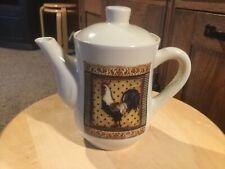 "BAY ISLAND INC. Beautiful Rooster Tea Pot.  6"" H x 4"" D."