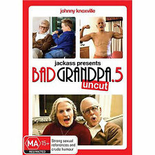 JACKASS: BAD GRANDPA .5 (UNCUT) - BRAND NEW & SEALED R4 DVD (JOHNNY KNOXVILLE)