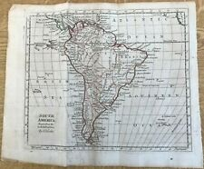 ANTIQUE MAP SOUTH AMERICA THOMAS KITCHEN C1785 GENERAL ATLAS OUTLINE COLOUR