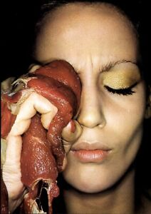 1976 Helmut Newton Raw Red Meat Treatment For The Black Eye Art Photo Engraving