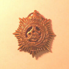 antique metalware Trinket-French motto-Chivalric order of Garter-bronze w Crown