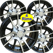 4) Golf Cart RIM WHEEL 12x6 4/4 3+3 RHOX RX105 for EZ-Go Club Car Yamaha more