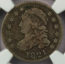 1821 Large Date Capped Bust Dime NGC VG8