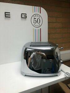 Smeg TSF03SSUK 50's Retro Stainless Steel Four Slice Toaster, Used