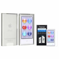 Frost Clear TPU Case+Colorful Diamond LCD Protector For iPod Nano 7 7G 7th Gen