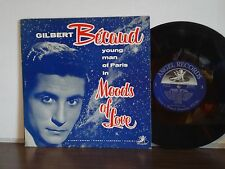 "GILBERT BECAUD Moods of Love RARE 1954 1A ANGEL 10"" LP French Jazz WAL-BERG ORCH"