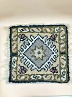 "Authentic Vintage Hand Knotted Turkish Wool Kilim Area Rug 15""x15"""