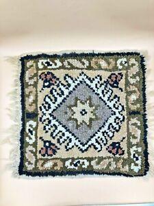 "Authentic Vintage Hand Knotted Turkish Wool Kilim Area Rug 15""x15"""