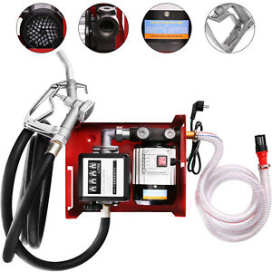 60L/H Olio Gasolio Travaso Pompa, Pompa di Trasferimento Contalitri Singolo Fase