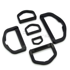 Plastic D Ring Webbing Strapping Leather Bag Shirt Craft Black