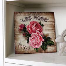 Vintage matures Style Métal Rose Plaque murale français chic IMAGE cadeau maison