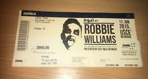 robbie williams live in Serbia,used ticket