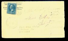 1881 North Branch Station MN Fancy Cancel Chisago County DPO (1870-89)   MN1292