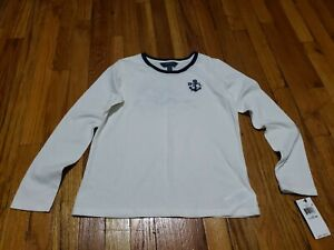 Polo Ralph Lauren Girls Long Sleeve Navy Beach RLPC T Shirt NWT Size L (12-14)
