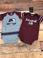 Colorado Avalanche Baby Infant One Piece Brand New Lot Of 2 Size 24 Months A113