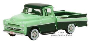 1957 Dodge D100 Sweptside Forest Green Pickup Truck HO 1/87 Oxford 87DP57003