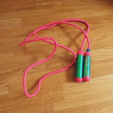 childrens pink skipping rope with shiny plastic handles