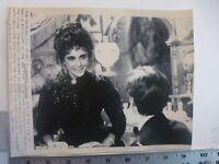 Vintage Wire Press Photo Elizabeth Taylor In Il Giovane Toscanini  7/28/1988