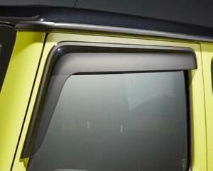 SUZUKI NEW JIMNY 2021 LCV VAN COMMERCIAL WIND RAIN DEFLECTORS VISORS SMOKE GREY
