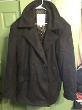 Rothco Ultra Force Pea Coat Black Brand New With Tags Mens Size 44 Large