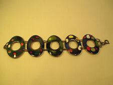 Vintage Emaille Damen Schmuck  Armband 60er Jahre / Mid Century Design