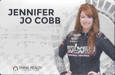 "2017 JENNIFER JO COBB ""THINK REALTY"" NASCAR CAMPING WORLD TRUCK SERIES POSTCARD"