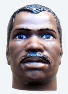 "1976 MUHAMMAD ALI 10"" black mego BOXING figure -- KEN NORTON -- HEAD"