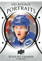 18/19 UPPER DECK UD PORTRAITS ROOKIE RC #P-99 ELIAS PETTERSSON CANUCKS *61950