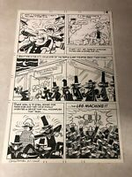 POPEYE #125 original art 1974 SIGNED WILDMAN SPIES raid TELEPHONE CO LEG MACHINE