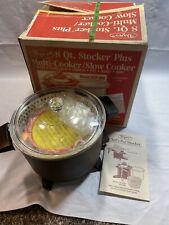 NOS Dazey 8 Qt. Multi-cooker Slow cooker Chef's Pot Fryer Steam Roast Simmer