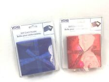 2 Voila Red Blue Gift Card Holder Box With Ribbon Boxes Ribbon Bow 25304