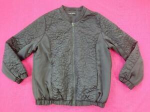 Women's Capsule Ladies Jacket Long Sleeves Zip Up Side Pockets Black UK18 EUR 46