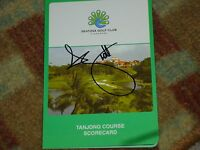 Adam Scott  Signed Sentosa Golf Club Singapore Scorecard COA