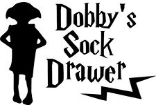 Harry Potter Dobby's Sock Drawer Vinyl Decal Sticker for Car/Window/Wall