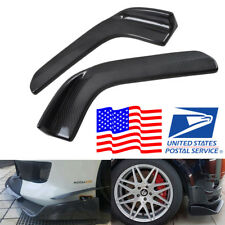 1 Pair Polyurethane Carbon Fiber Appearance Car Front Bumper Splitter Diffuser