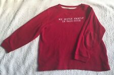 """GAP """" MY WHOLE FAMILY IS THIS CUTE """" RED LOGO T Shirt Top : 5T  Age 4 - 5  BNWOT"""