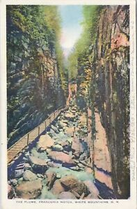 WB postcard, The Flume, Franconia Notch, White Mountains, New Hampshire