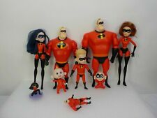 Lot of Disney Pixar The Incredibles Action Figure Dolls Family