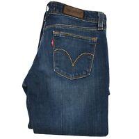 Levi's 572 Womens Low Waist Boot Cut Jeans Size W28 L34 D. Blue Wash Denim Pants