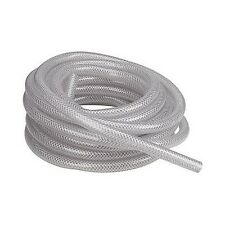 """10 Feet of 1/4"""" Reinforced Vinyl Tubing, Clear Braid Reinforced, Made in USA"""