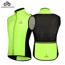 MTB Gilet Sleeveless Cycling Jersey Wind Coat Sport Vest Hi Vis Tops Breathable