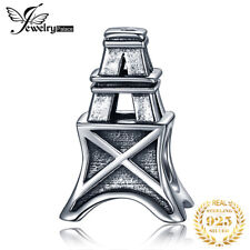 JewelryPalace 925 Sterling Silver Tower Bead Charm Fit Bracelets