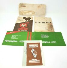 Lot of Miscellaneous Paper Manuals for Fire arms Winchester Remington