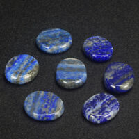 5 Pcs Natural Lapis Lazuli Gemstone  Worry Palm Stone Thumb Stone Lucky RBR