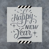Happy New Year Stencil - Reusable Stencils of Happy New Year in Multiple Sizes