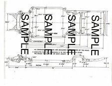 1963 FORD GALAXIE 63 FRAME GUIDE DIAGRAM CHART WITH DIMENSIONS 63BKMOF