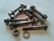 SUNBEAM ALPINE (TIGER)  LEAF SPRING CLIP STAINLESS STEEL NUTS AND BOLTS SET OF 8