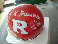 Khaseem Greene Steve Beauharnais Rutgers Scarlett Knights Signed Helmet NFL