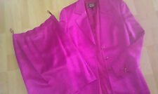 Luxus Escada COUTURE KOSTÜM pink HOCHZEIT 36/38 gold NP1280,-SUIT Blazer + Rock