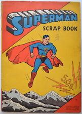 Rare 1940 SUPERMAN SCRAP BOOK w COVER from Superman Comics #2 - NO WIRE BINDING